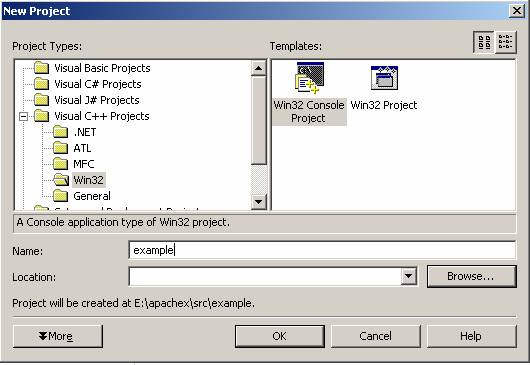 Новый проект для модуля Apache 2
