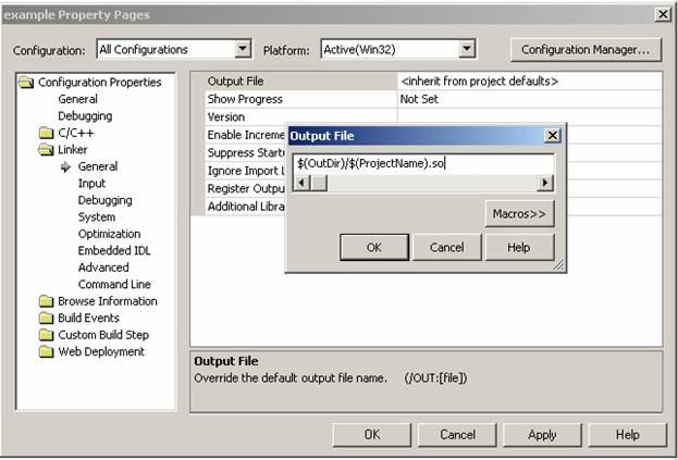 Указываем расширение исполняемого файла